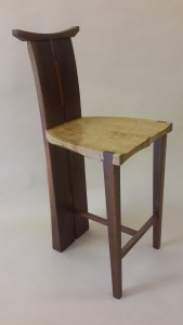 torii stool in walnut and maple