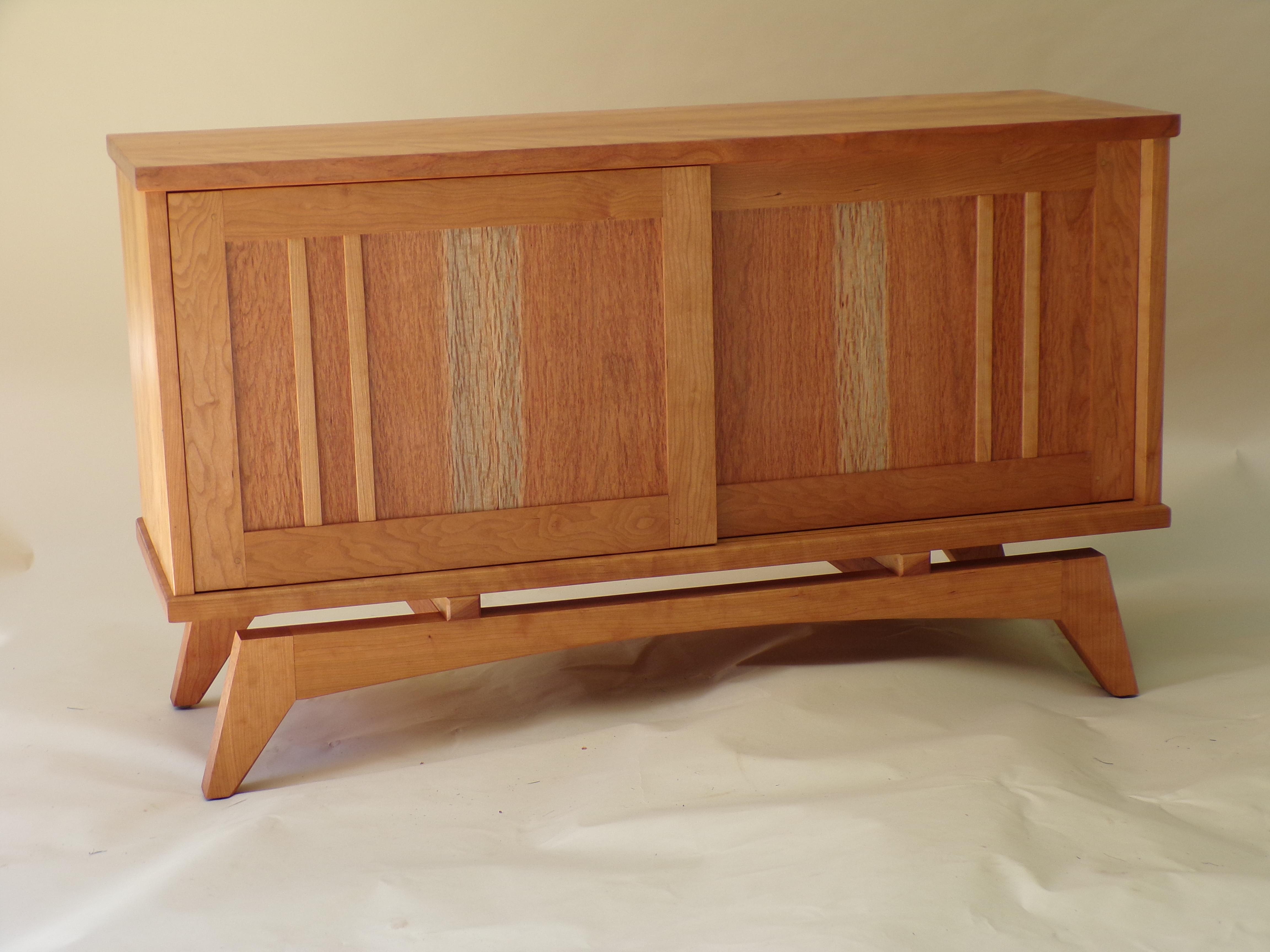 Dark Cherry Wood Credenza : Amazon furniture of america cm bc sv sabrina cherry